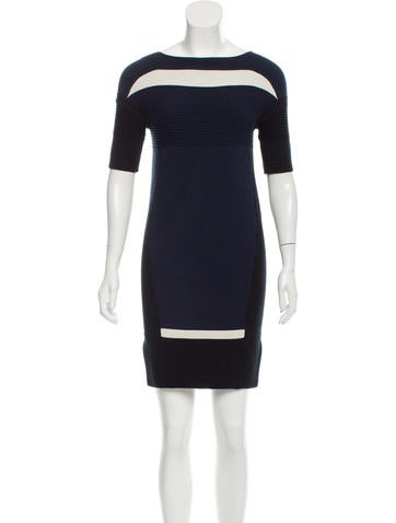 Ohne Titel Knit Short Sleeve Mini Dress None