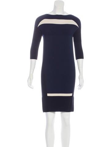 Ohne Titel Colorblock Knee-Length Dress None