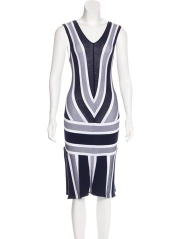 Ohne Titel Striped Midi Dress None