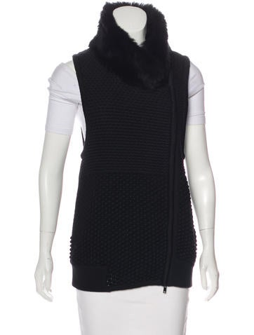 Ohne Titel Fur-Trimmed Knit Vest None