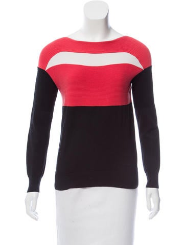 Ohne Titel Ribbed Colorblock Sweater None