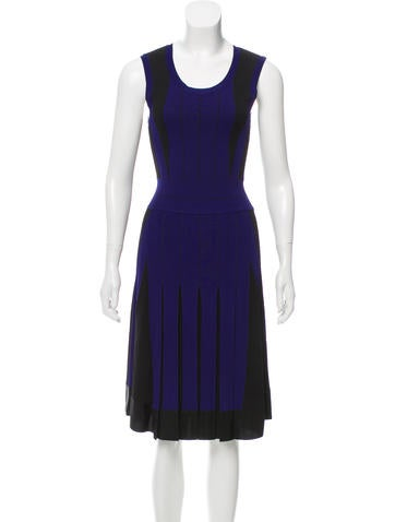 Ohne Titel Pleated Knit Dress None