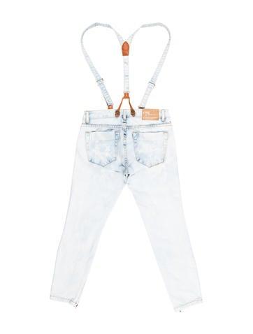 Crop Suspender Jeans