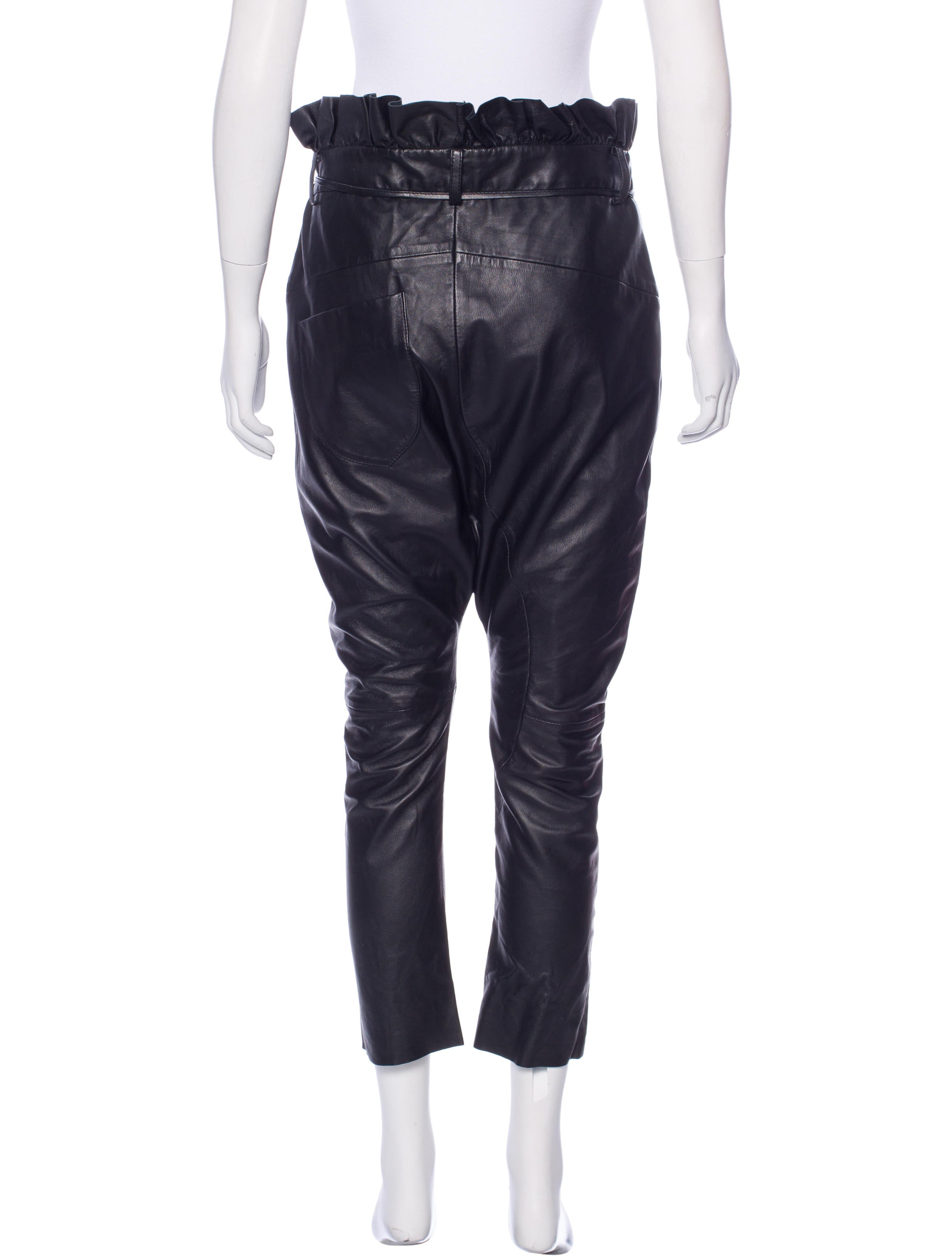 one teaspoon leather harem pants clothing wonet20066