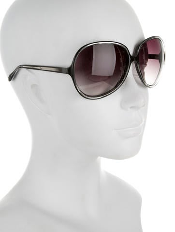 Oversize Metallic Sunglasses