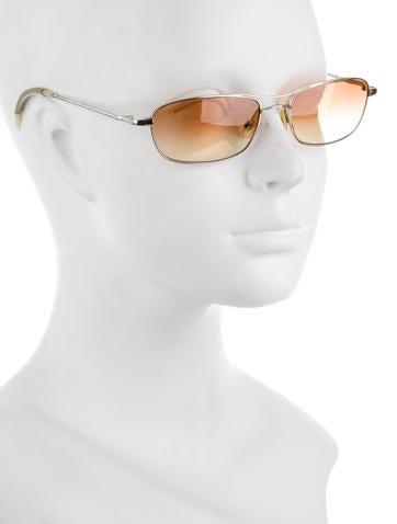 Silver-Tone Gradient Lens Sunglasses
