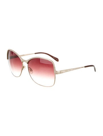 Creme Oversize Sunglasses