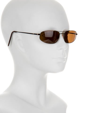 Pewter-Tone Oval Sunglasses