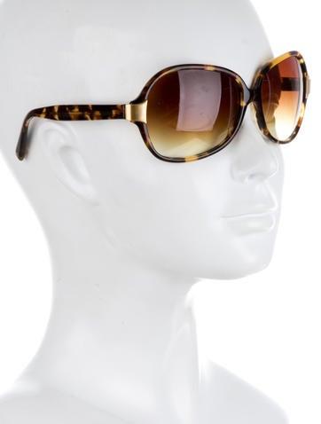 Tortoiseshell Gradient Lens Sunglasses