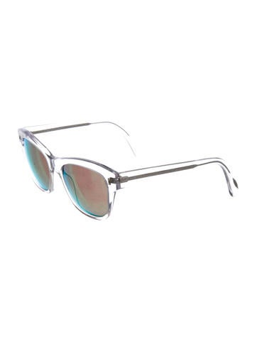 Mirrored Lucite Sunglasses