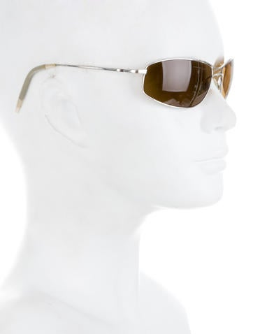 Thin Silver-Tone Sunglasses