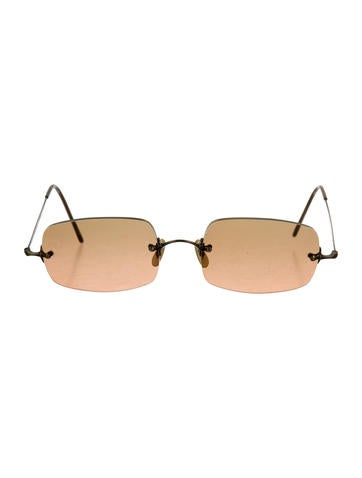 Brass-Tone Gradient Sunglasses