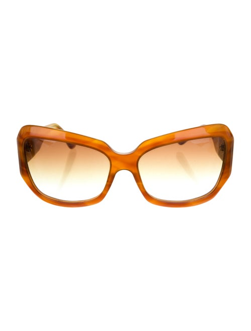 Oliver Peoples Athena Acetate Sunglasses Brown - image 1