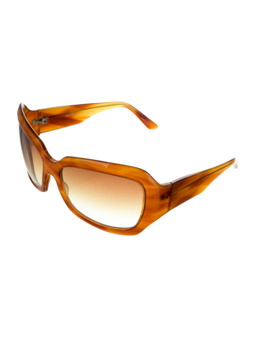 Oliver Peoples Athena Acetate Sunglasses Brown - image 2