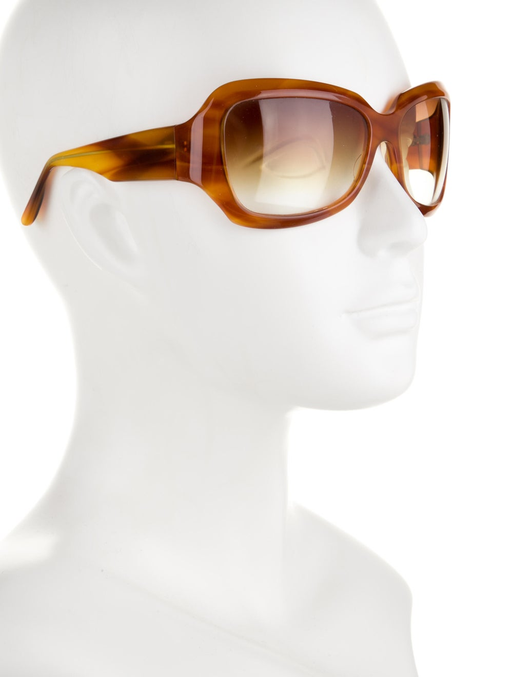 Oliver Peoples Athena Acetate Sunglasses Brown - image 4