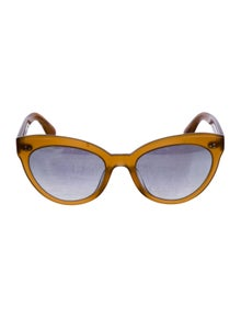 Oliver Peoples Round Mirrored Sunglasses