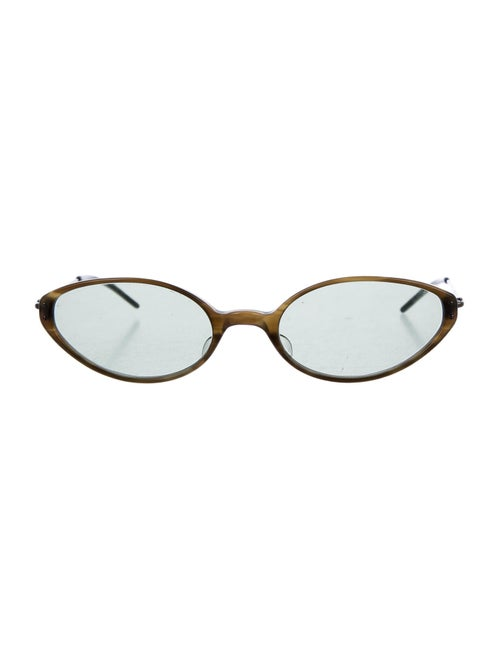 Oliver Peoples Cat-Eye Tinted Sunglasses Green - image 1