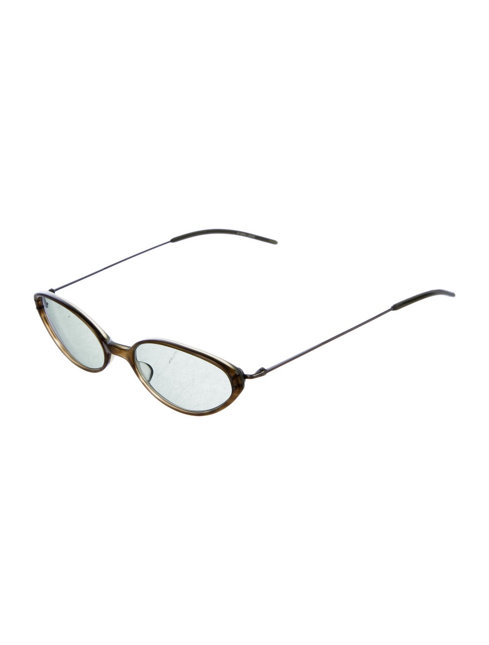 Oliver Peoples Cat-Eye Tinted Sunglasses Green - image 2