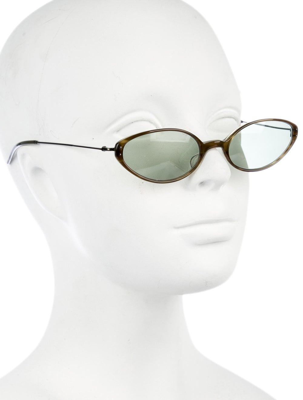 Oliver Peoples Cat-Eye Tinted Sunglasses Green - image 4