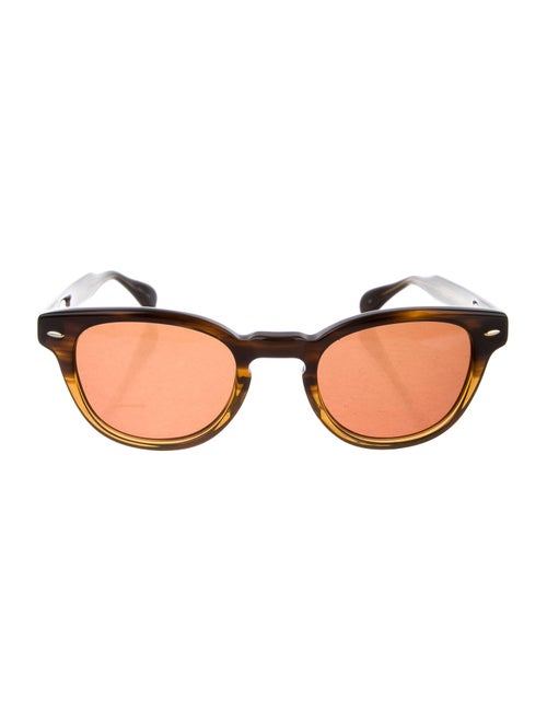 Oliver Peoples Round Tinted Sunglasses brown