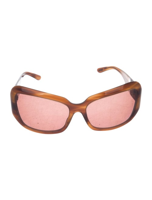 Oliver Peoples Athena Square Sunglasses Brown