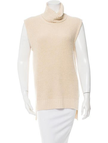 Orley Silk Sleeveless Turtleneck Top w/ Tags None