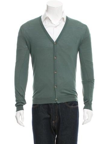 Orley V-Neck Rib Knit-Trimmed Cardigan None