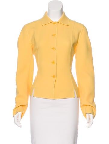 Oscar by Oscar de la Renta Wool Button-Up Jacket None