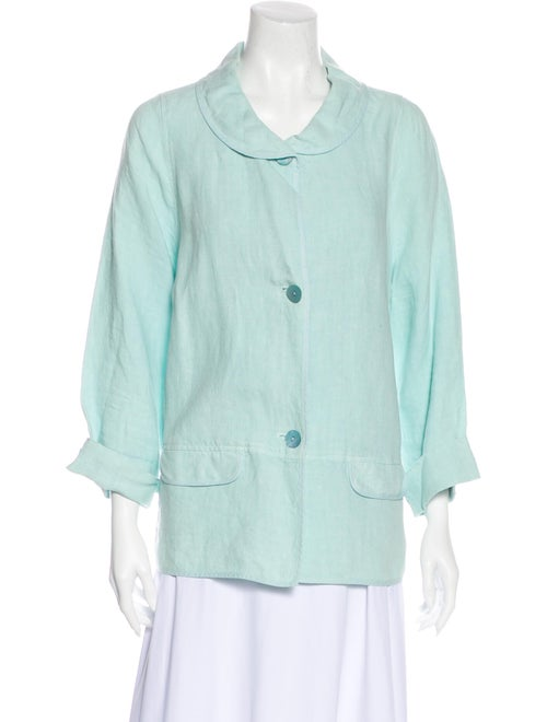 Oska Linen Evening Jacket Blue