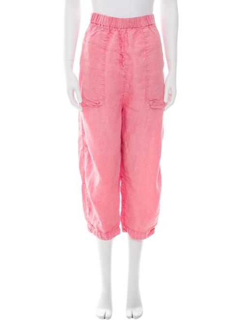 Oska Linen Straight Leg Pants Pink
