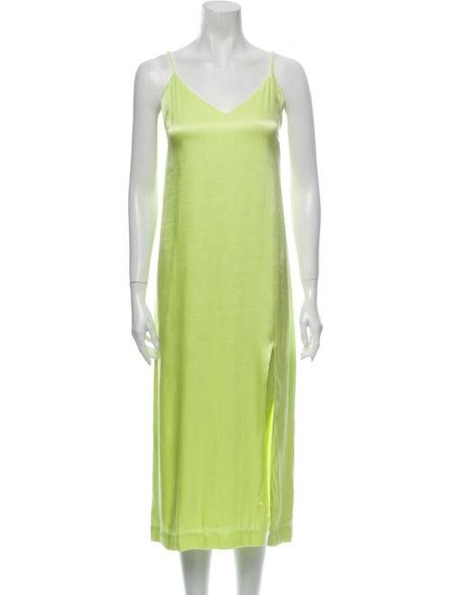 & Other Stories V-Neck Long Dress Green
