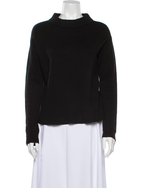 & Other Stories Mock Neck Sweater Black