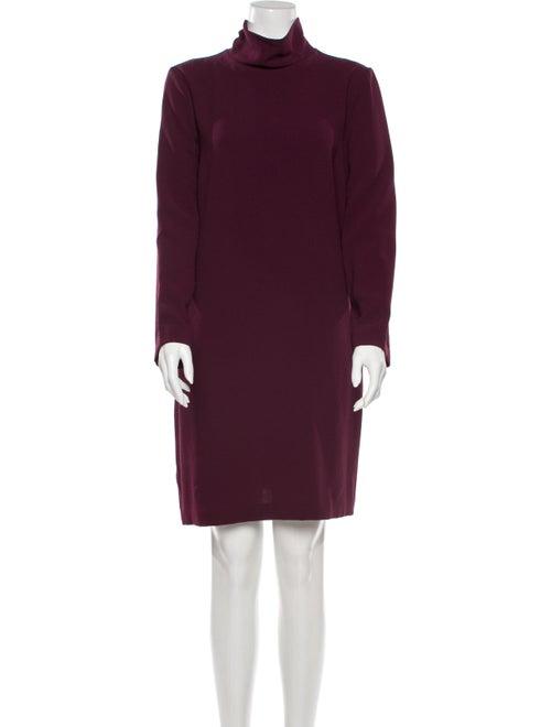 Ottod'Ame Turtleneck Knee-Length Dress w/ Tags Pur
