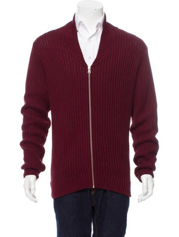 Our Legacy Shawl Collar Zip-Up Sweater None