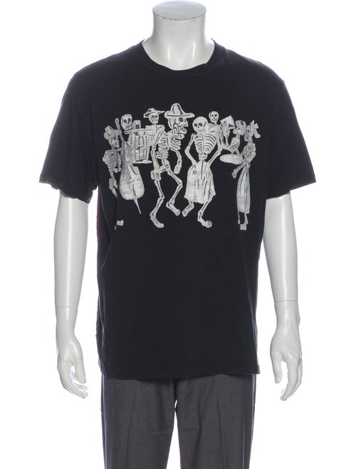 Our Legacy Graphic Print Crew Neck T-Shirt Black