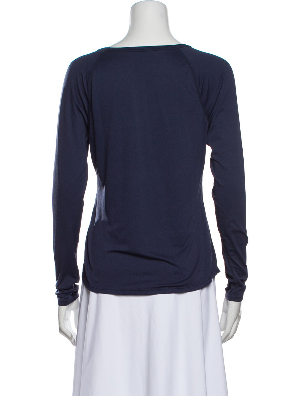 Outdoor Voices Scoop Neck Long Sleeve T-Shirt Blue - image 3
