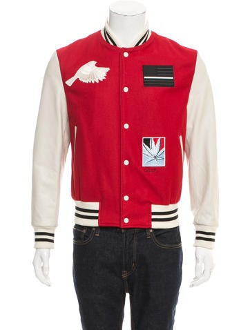 Ovadia & Sons Leather-Accented Varsity Jacket None
