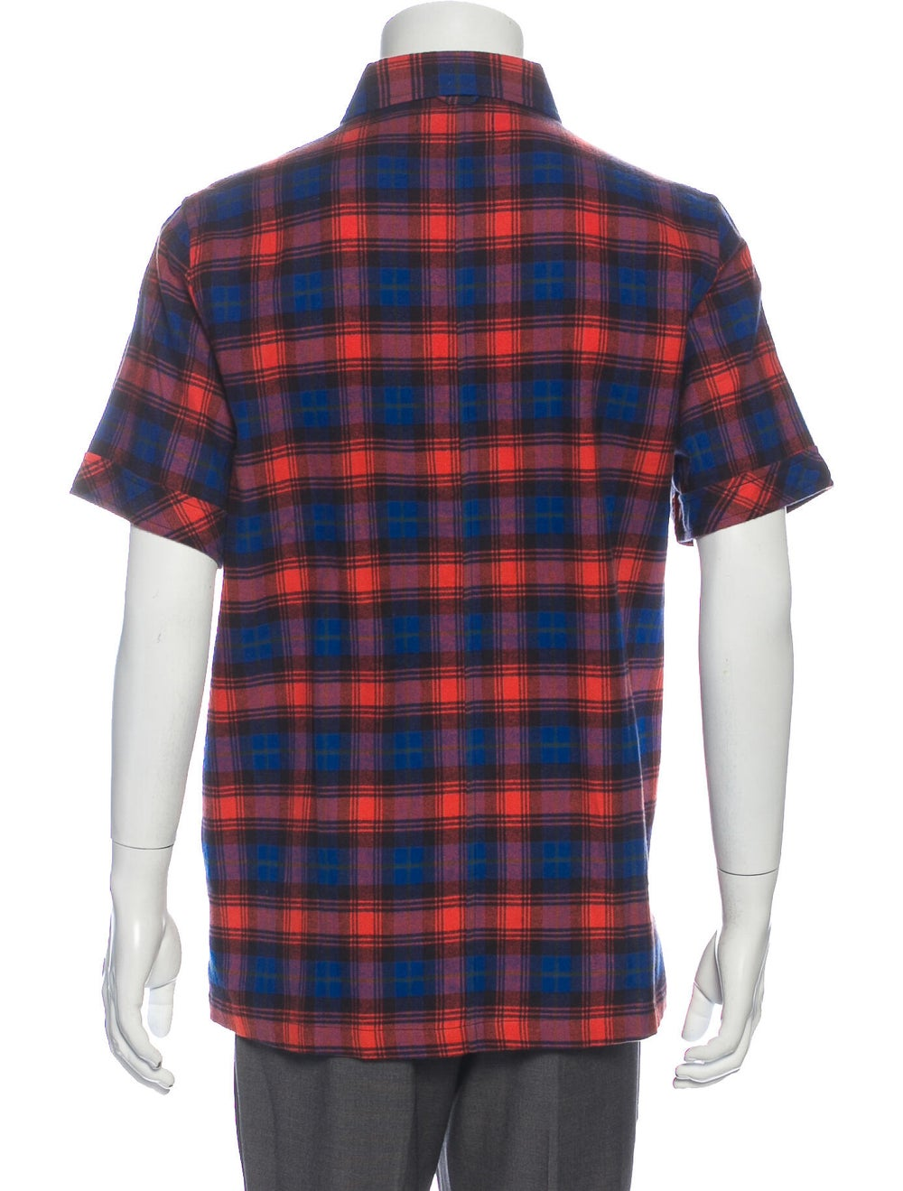 Ovadia & Sons 2019 Plaid Print Shirt Blue - image 3