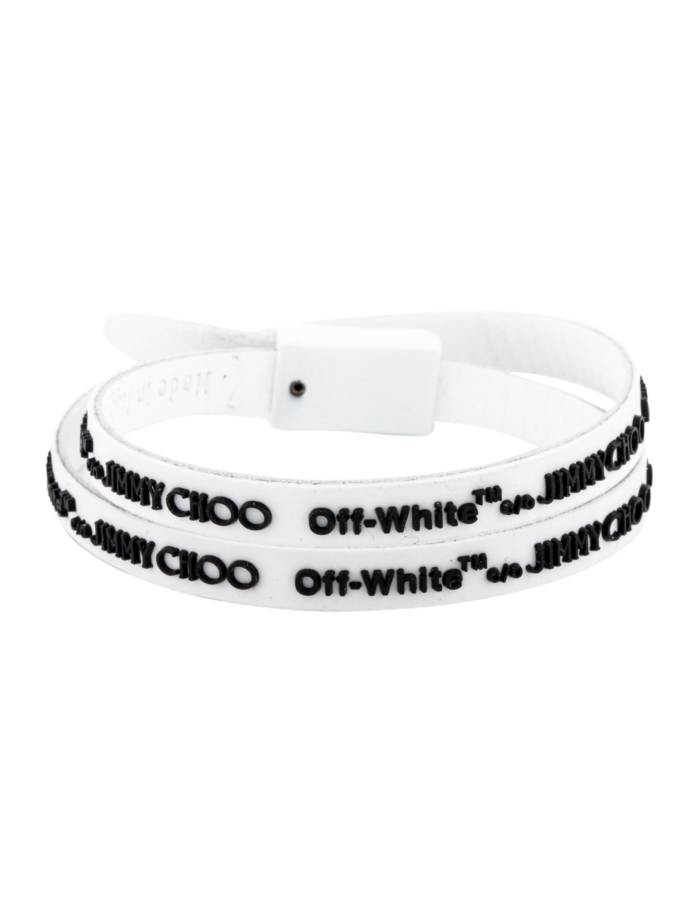 753d2651edc Off White X Jimmy Choo Logo Rubber Wrap Bracelet Bracelets. Off White C O  Jimmy Choo Collection Zhu Constance ...