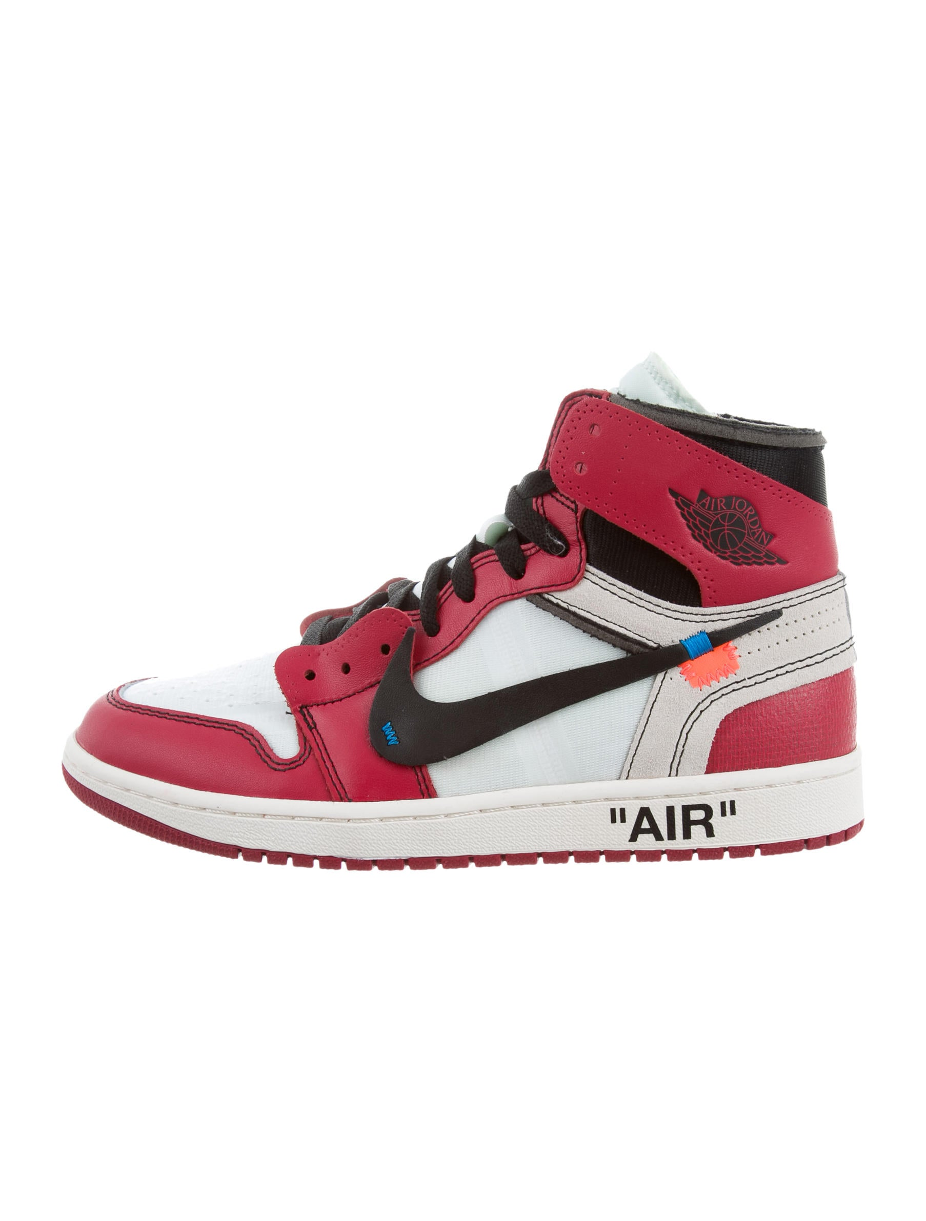 Off White x Virgil Abloh x Nike The TEN Air Jordan 1  : WOWVA200041enlarged from www.therealreal.com size 1806 x 2382 jpeg 186kB