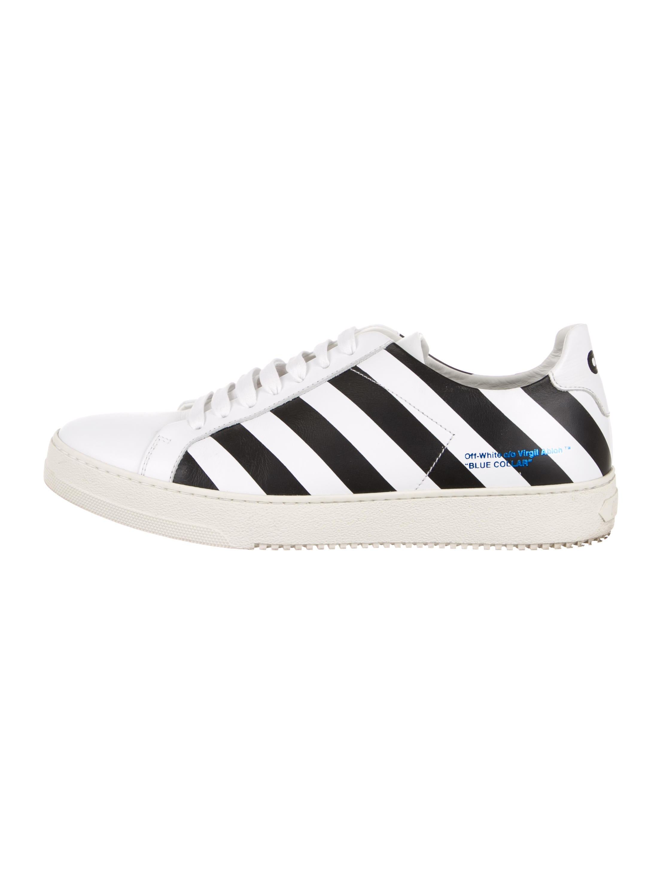 c095ac9dde69 Off-White c o Virgil Abloh Leather Diagonal Sneakers - Shoes ...
