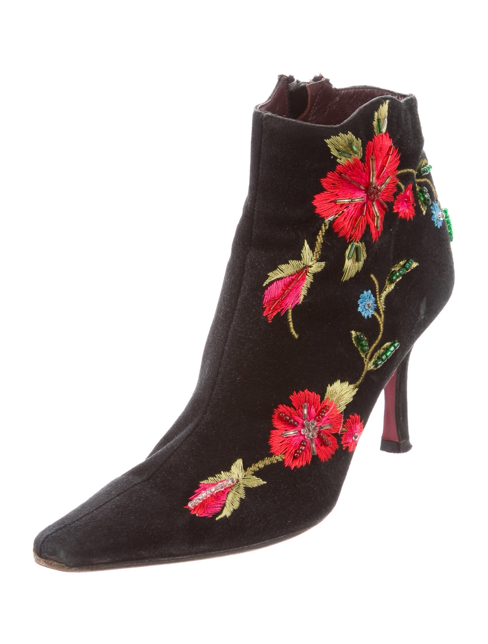 clearance visit with paypal cheap price Ramón Tenza Embroidered Suede Ankle Boots free shipping 2014 buy cheap ebay cheap clearance t43BvSdQ