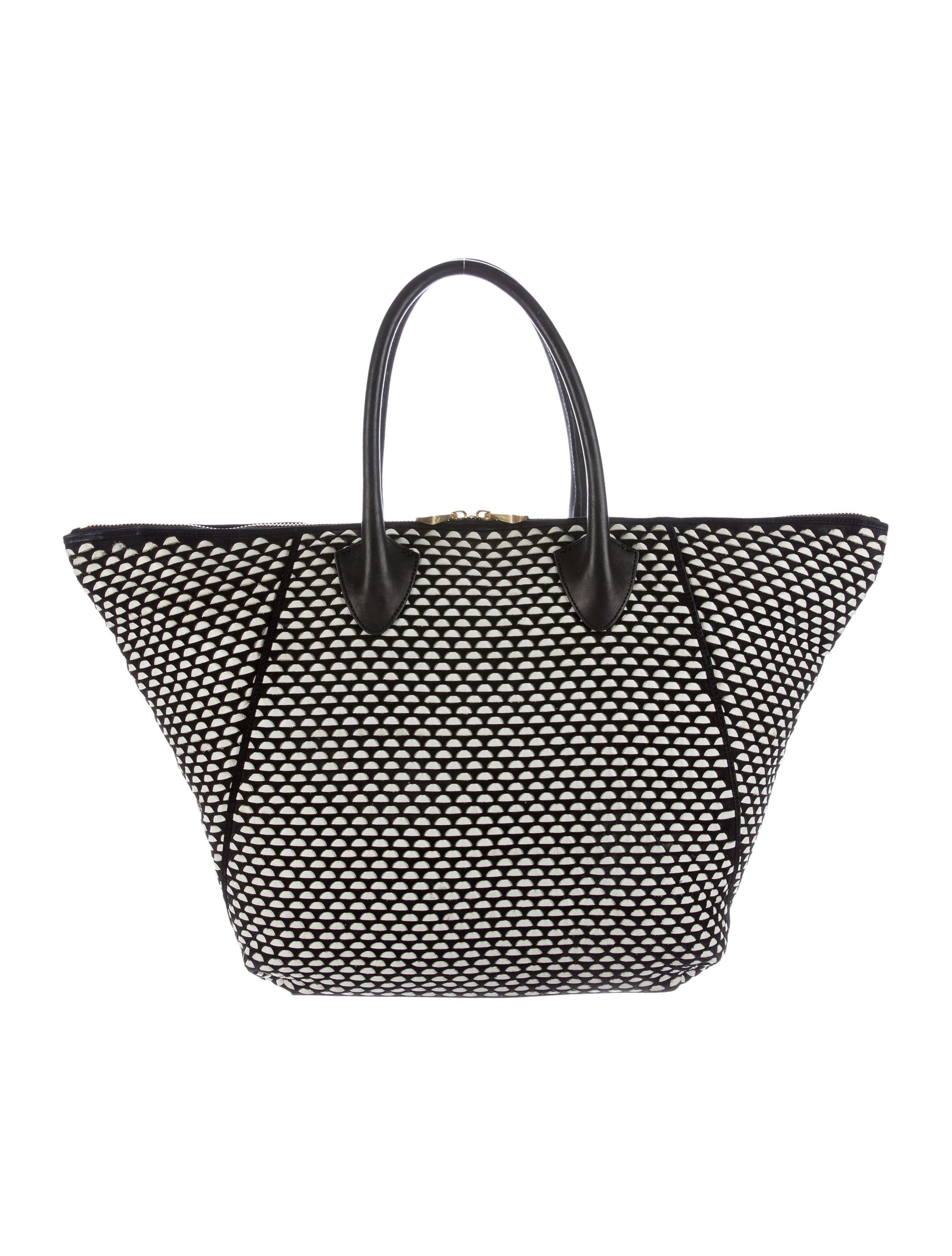 bfd16f04ea4b Pour La Victoire Woven Leather Milano Tote - Handbags - WP020181 ...