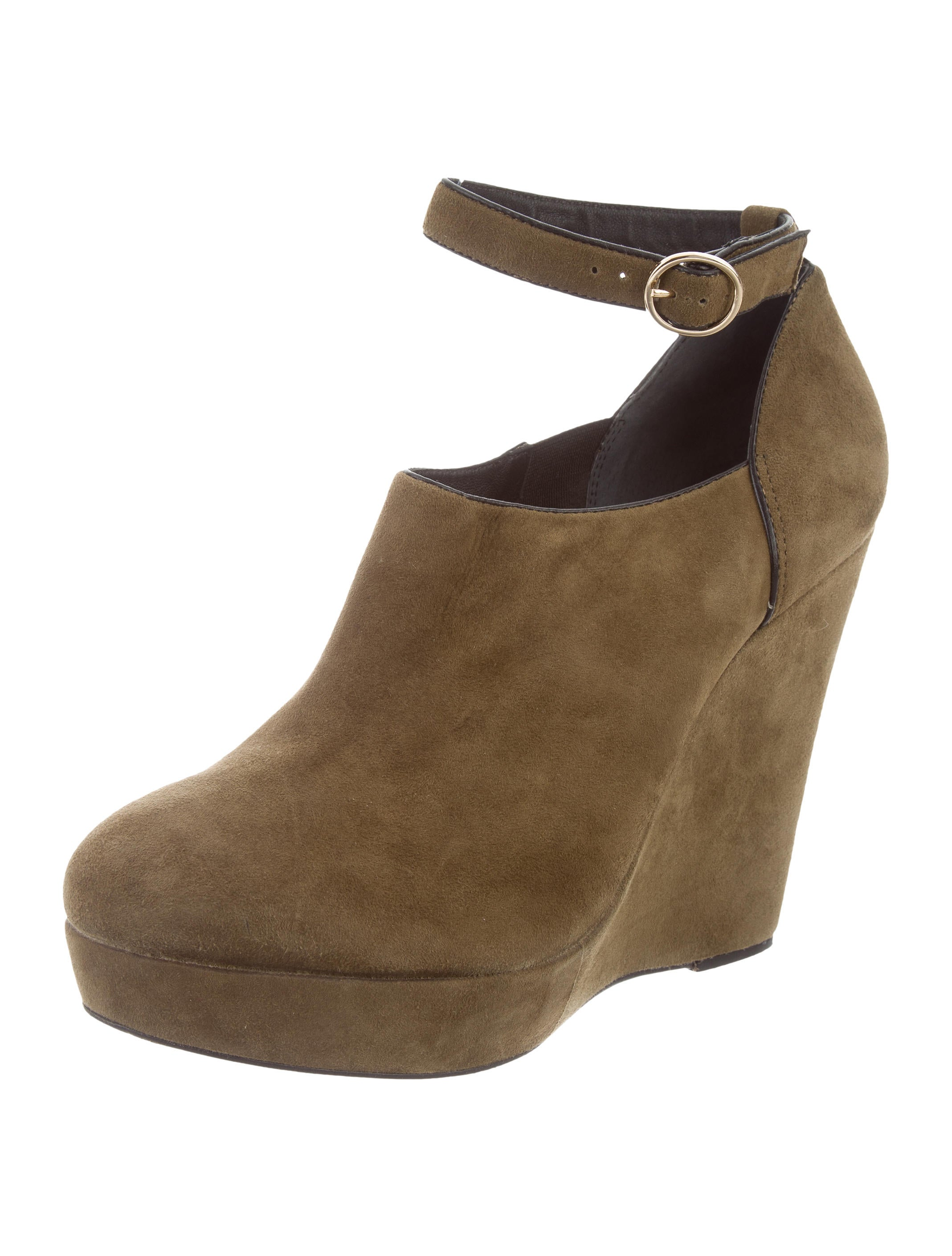 Pour La Victoire Suede Round-Toe Wedges latest sale online discount new free shipping deals perfect outlet Manchester ucXcry8Dta