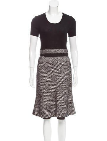 Paule Ka Wool-Blend Midi Dress None