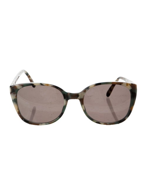 Prism Patterned Acetate Sunglasses Green
