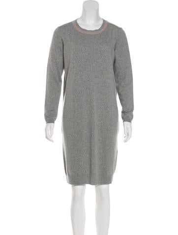 Peserico Long Sleeve Sweater Dress None