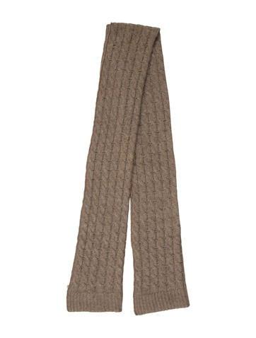 Portolano Cashmere Open Knit Scarf None