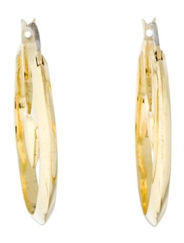 Circle Dagger Hoop Earrings