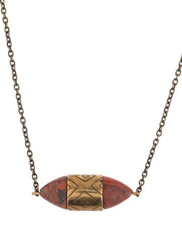 Pamela Love Ellipse Jasper Pendant Necklace